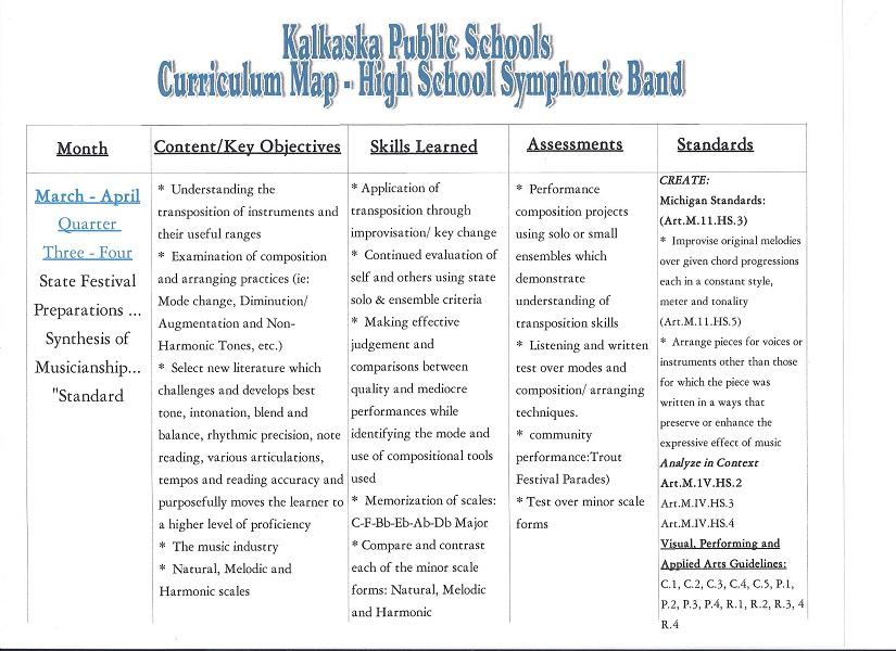khs band curriculum 4 of 5