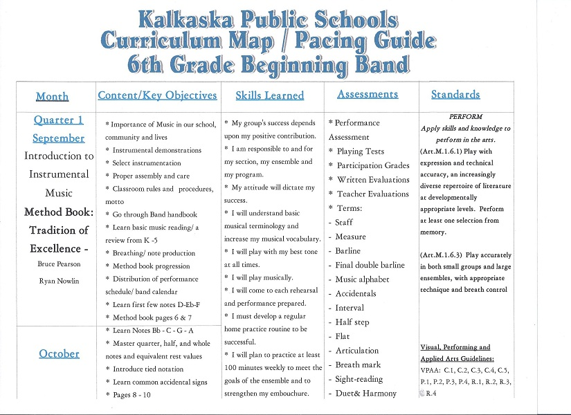 Kalkaska Public Schools Curriculum Maps – 6th Grade Social Studies Worksheets